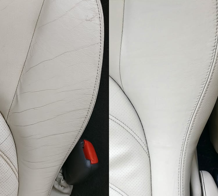 repair small hole leather car seat